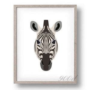 Wild Zebra Canvas Art Print Painting Poster,  Wall Pictures for Home Decoration, Home Decor FA393-1