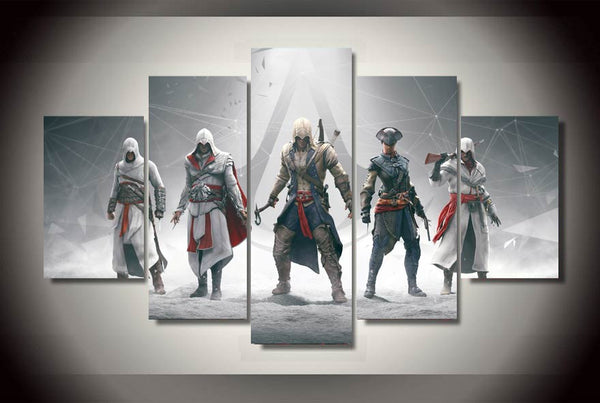 2016 Wall Art Fallout Framed Printed Assassins Creed Painting Children's Room Decor Print Picture Canvas Free Shipping Unframed
