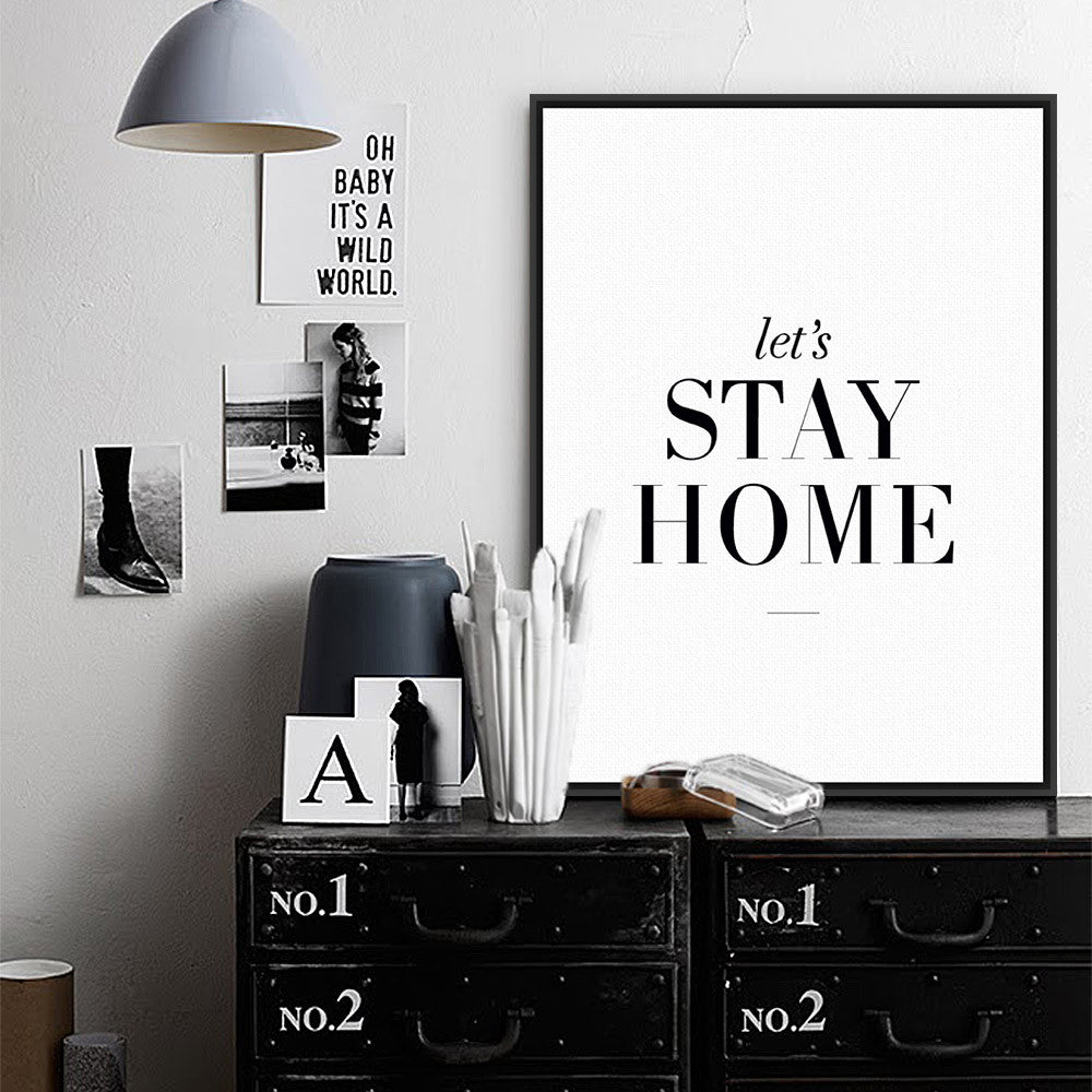 AZQSD Art Print Poster Minimalist Black White Quotes Wall Picture Canvas  Painting For Living Room Home