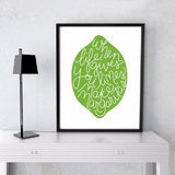 When Life Gives You Limes Make Margaritas Green Kitchen Margarita Print Canvas Painting Poster Canvas Art Kitchen Decor no frame