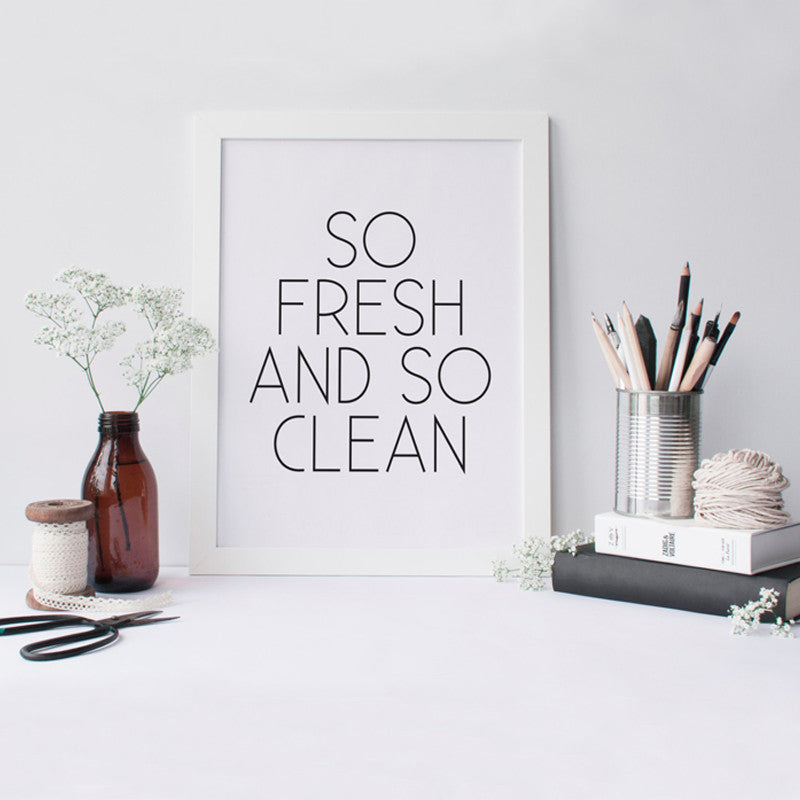 Canvas Art PRINTABLE Art So Fresh and So Clean Print Bathroom Decor Kitchen  Home Art Apartment Decor , Frame Not included