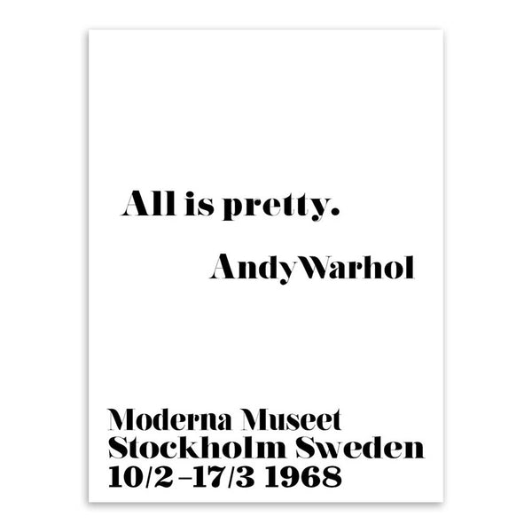 AZQSD Minimalist Art Print Poster Modern Black White Andy Warhol Life Quotes Wall Picture For Home Decor Canvas Painting PP055