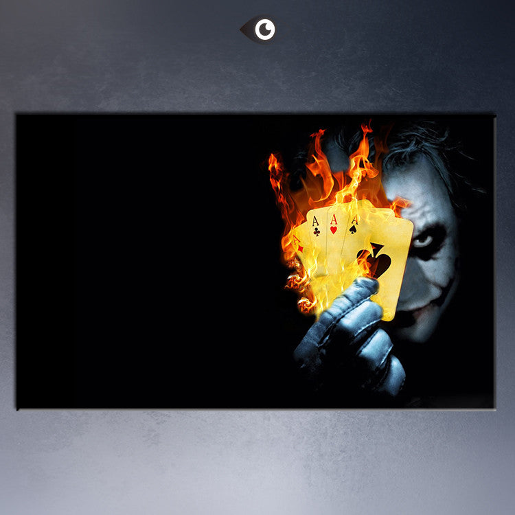 Free shipment burning_poker_joker- movie poster  Art Picture Paint on Canvas Prints
