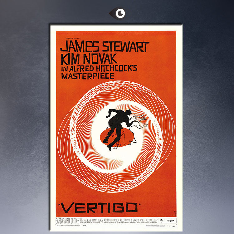 VERTIGO, 1958, VERTIGO DIRECTED BY ALFRED HITCHCOCK  MOVIE Art Print  poster  on canvas for wall decoration