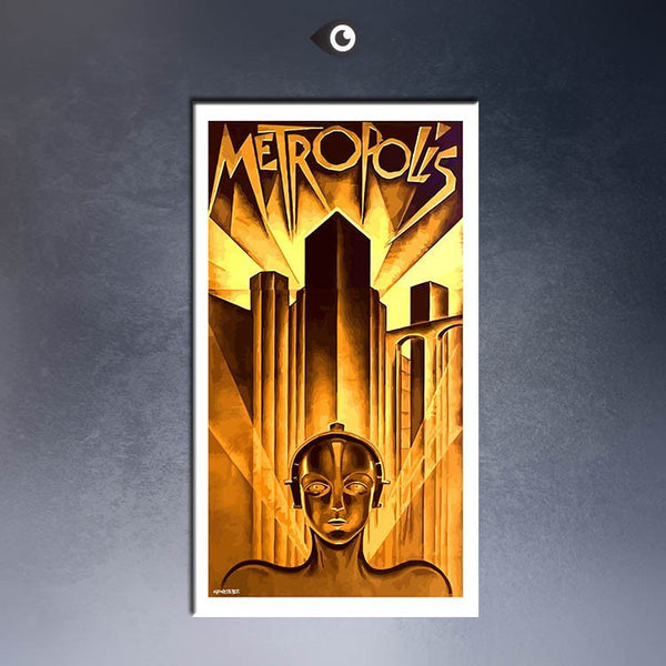 METROPOLIS, GERMAN MOVIE POSTER, 1926 MOVIE Art Print  poster  on canvas for wall decoration
