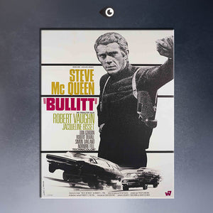 BULLITT, FRENCH MOVIE POSTER, 1968 Art Print  poster  on canvas for wall decoration