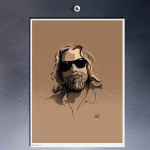 DUDE BIG LEBOWSKI MOVIE Art Print  poster  on canvas for wall decoration