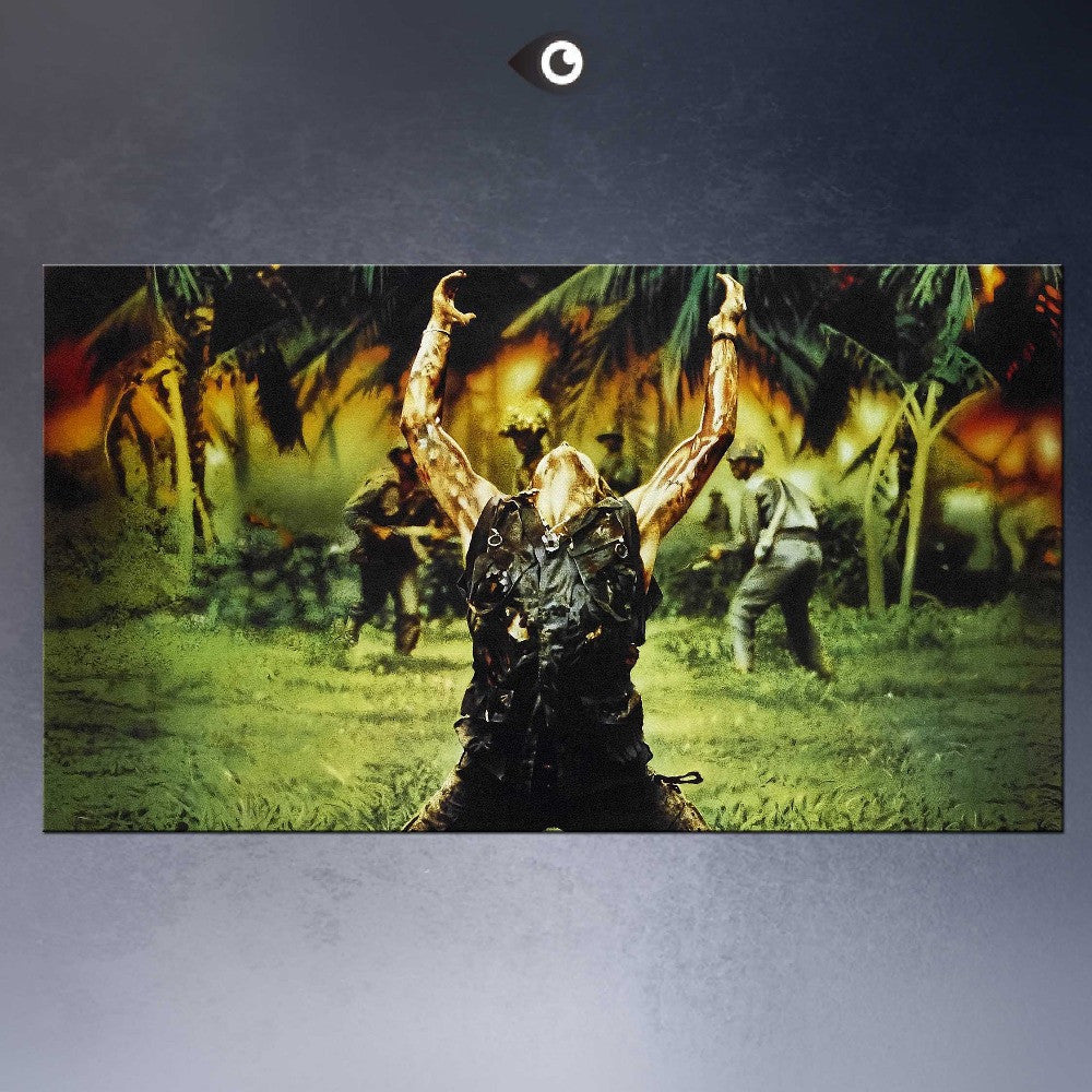 HUGE  POSTER ART PRINT ON CANVAS FOR PLATOON MOVIE POSTER Charlie Sheen RARE HOT NEW