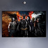 Free shipment the_dark_knight_characters- movie poster  Art Picture Paint on Canvas Prints