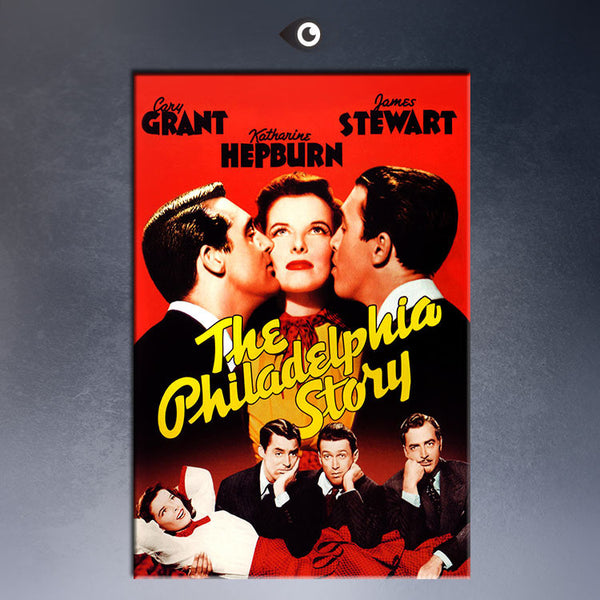 THE PHILADELPHIA STORY, KATHARINE HEPBURN,CARY GRANT JAMES STEWART, 1940  MOVIE Art Print  poster  on canvas for wall decoration