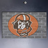 nfl-cleveland-browns-logo-on-grey Wall poster print canvas