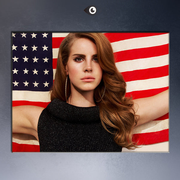 lana del rey posters painting prints on canvas Free shipment Amreican Flag