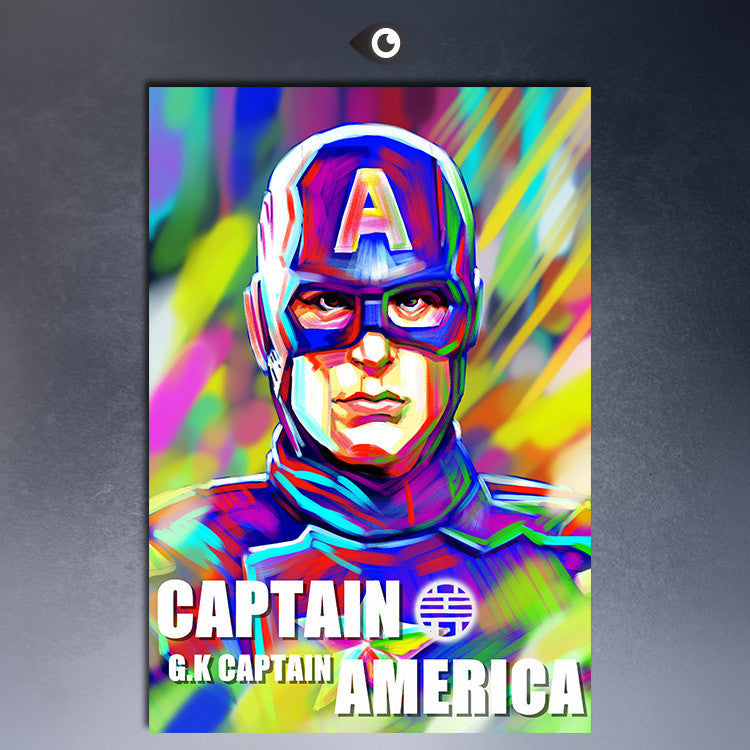 Captain of america G.K movie famous oil painting poster print on canvas for wall painting your photos painting