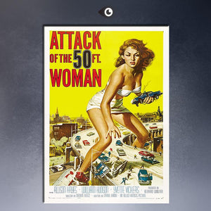 ATTACK OF THE 50 FOOT WOMAN Art Print  poster  on canvas for wall decoration