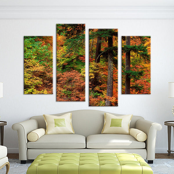 4PCS nature forest arts landscape Wall painting print on canvas for home decor ideas paints on wall pictures art No framed