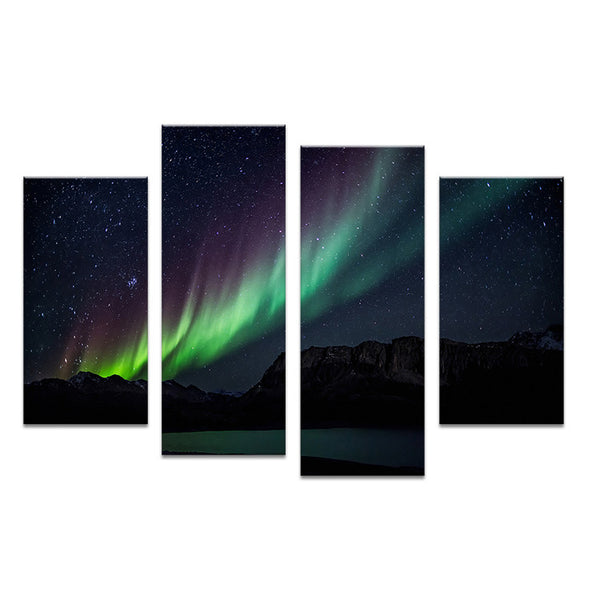 Colorful  galaxy light  paints Wall painting print on canvas for home decor ideas paints on wall pictures art No framed