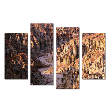 4PCS nature mountain landscape Wall painting print on canvas for home decor ideas paints on wall pictures art No framed