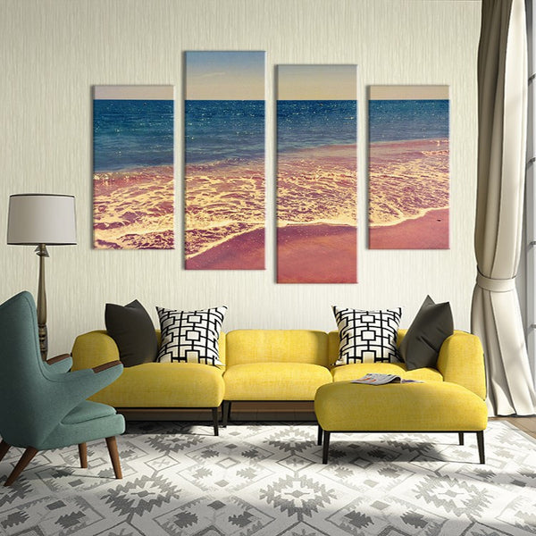 4PCS seascape waves beach Wall painting print on canvas for home decor ideas paints on wall pictures art No framed
