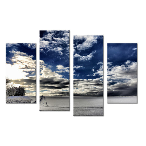 4PC winter living rooms set Wall painting print on canvas for home decor ideas paints on wall pictures art No framed