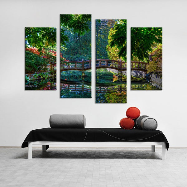 4PCS bridge art  Wall painting print on canvas for home decor ideas paints on wall pictures art No framed