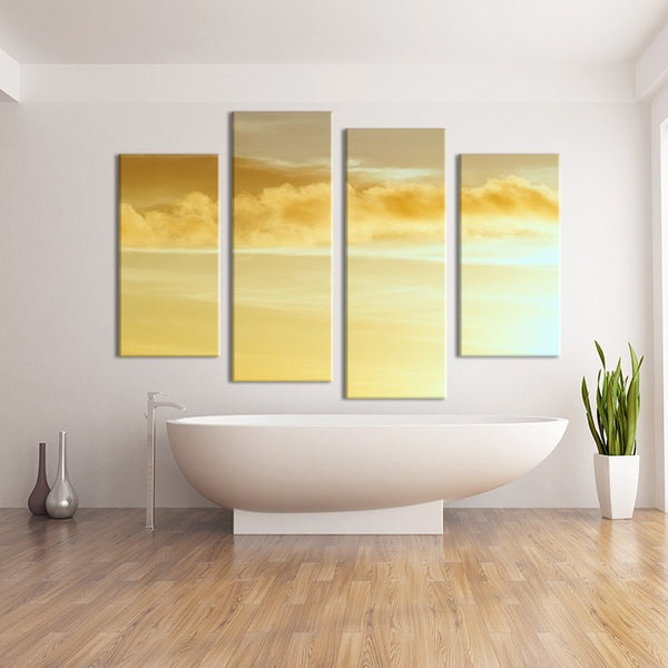 4PCS nature yellow scape Wall painting print on canvas for home decor ideas paints on wall pictures art No framed