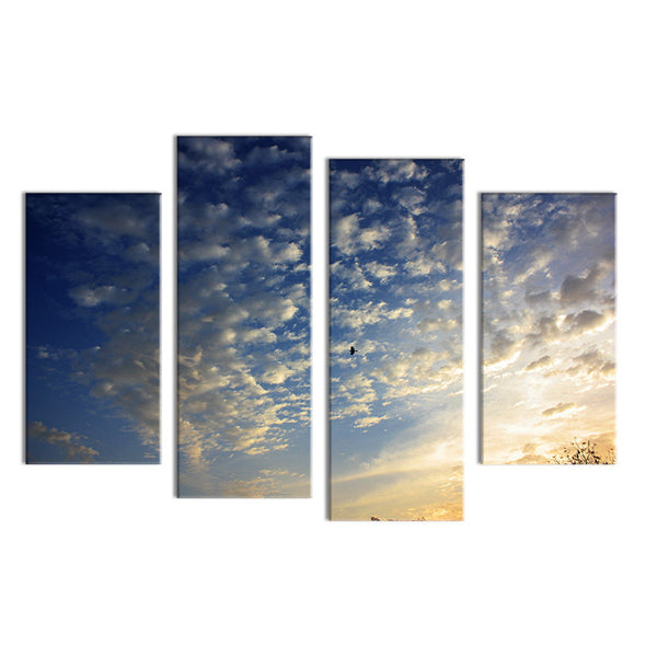 4PCS birds animal cloud arts  Wall painting print on canvas for home decor ideas paints on wall pictures art No framed
