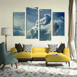 4PCS paints skyscape clouds Wall painting print on canvas for home decor ideas paints on wall pictures art No framed