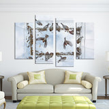 4PCS birds fly on the sky Wall painting print on canvas for home decor ideas paints on wall pictures art No framed
