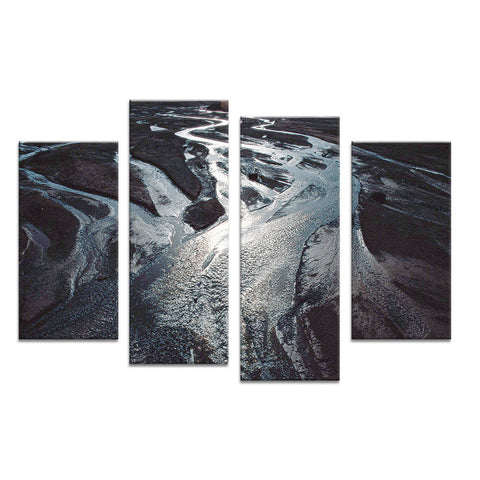 4PCS nature stream landscape Wall painting print on canvas for home decor ideas paints on wall pictures art No framed