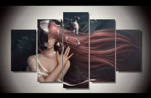 Comics Elfen Lied Printed Painting By Numbers Children's Room Decoration Print Poster Canvas Picture Unframed 5 Pieces