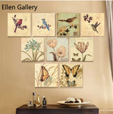 9 Piece Animal Wall Art Canvas Painting Wall Pictures For Living Room Birds And Flowers Cuadros Decoration Picture 2016 No Frame