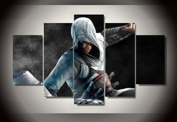 High Quality Framed Printed 5 pieces Assassins Creed Game Painting room decoration print poster picture canvas Free shipping