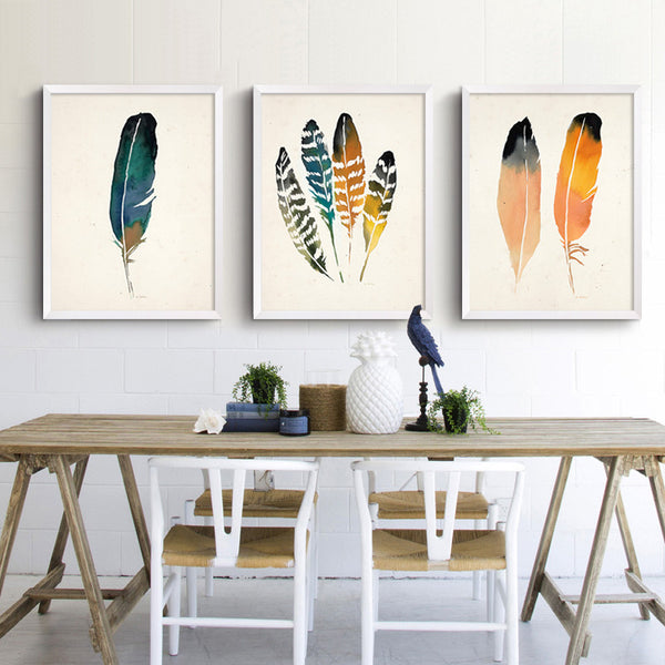 Feather Canvas Art Modern Paintings Printable Art Wall Pictures Canvas Art Poster Cuadros Oil Painting Wall Decor No Frame