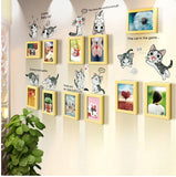 Cat Decal and photo frames - WallDecal