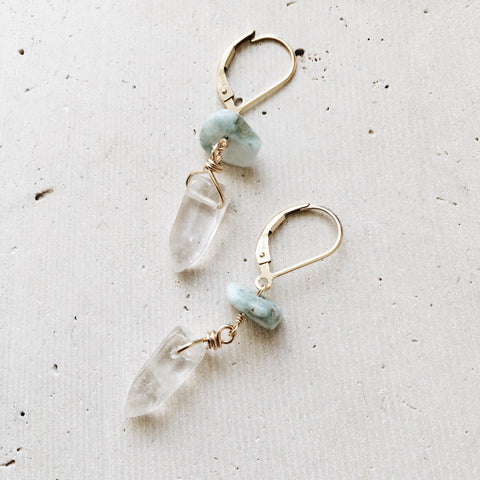 Crystal Point Earrings