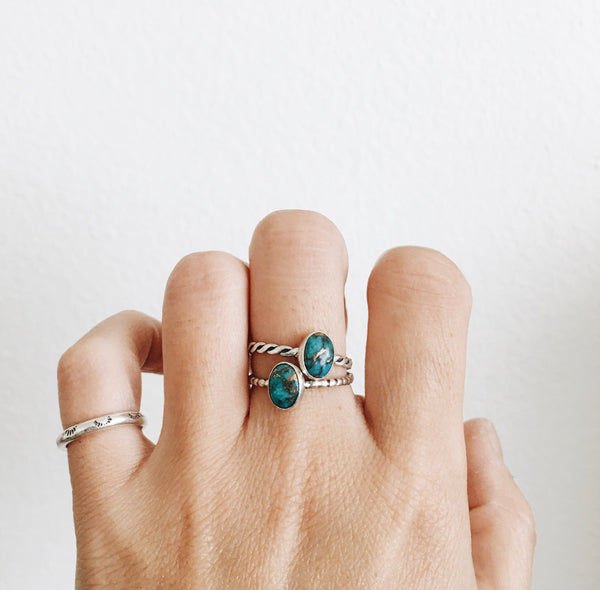 Copper Turquoise Ring