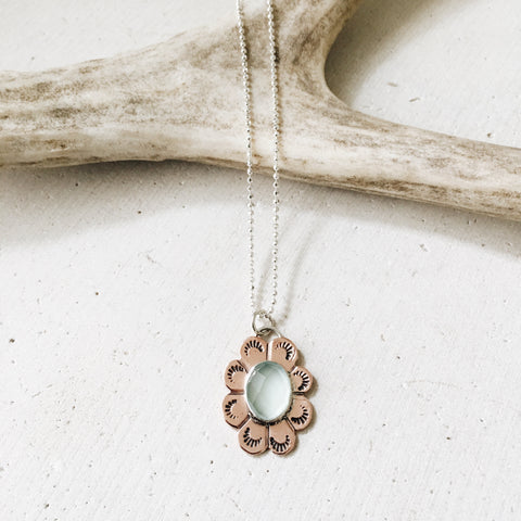 Chalcedony Flower Necklace