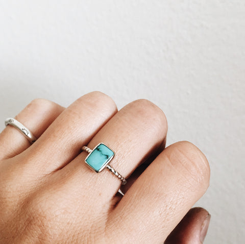 Kingman Turquoise Square Ring