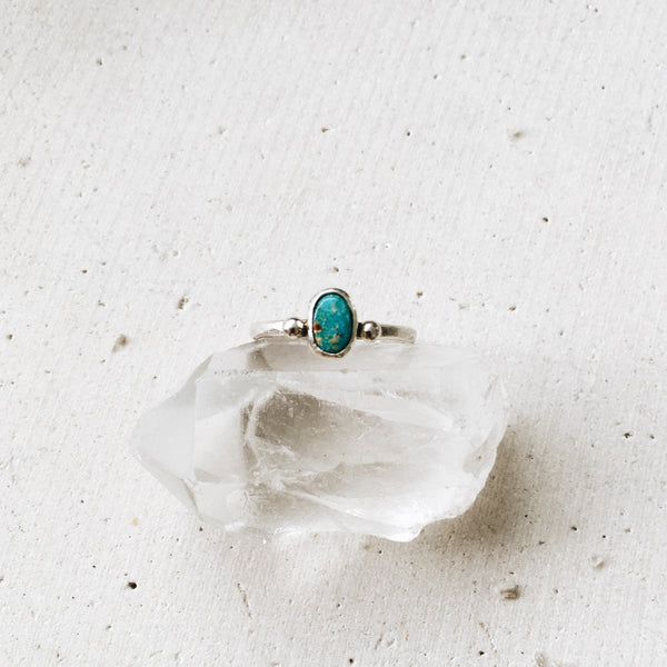 Tiny Tyrone Turquoise Ring