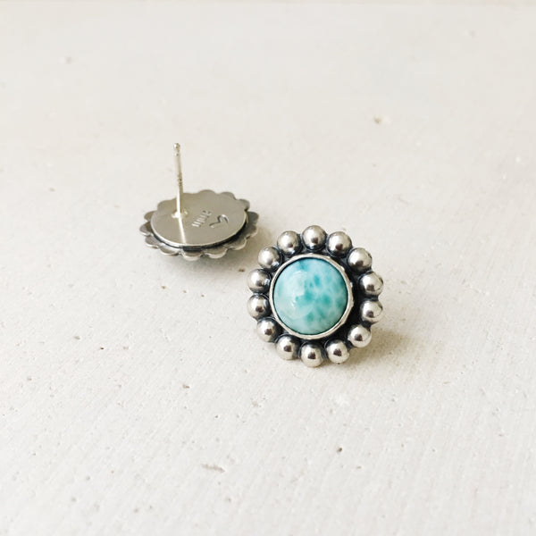Larimar Post Earrings