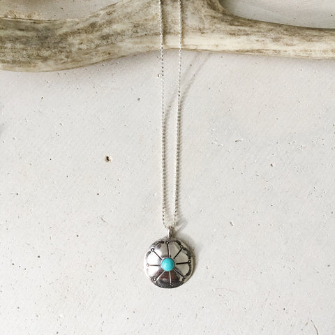 Arizona Turquoise Concho Necklace