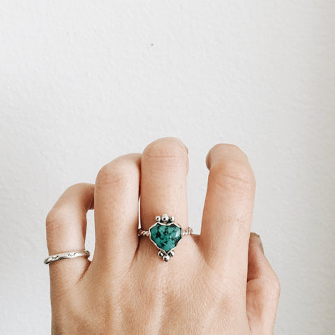 Kingman Turquoise Heart Ring
