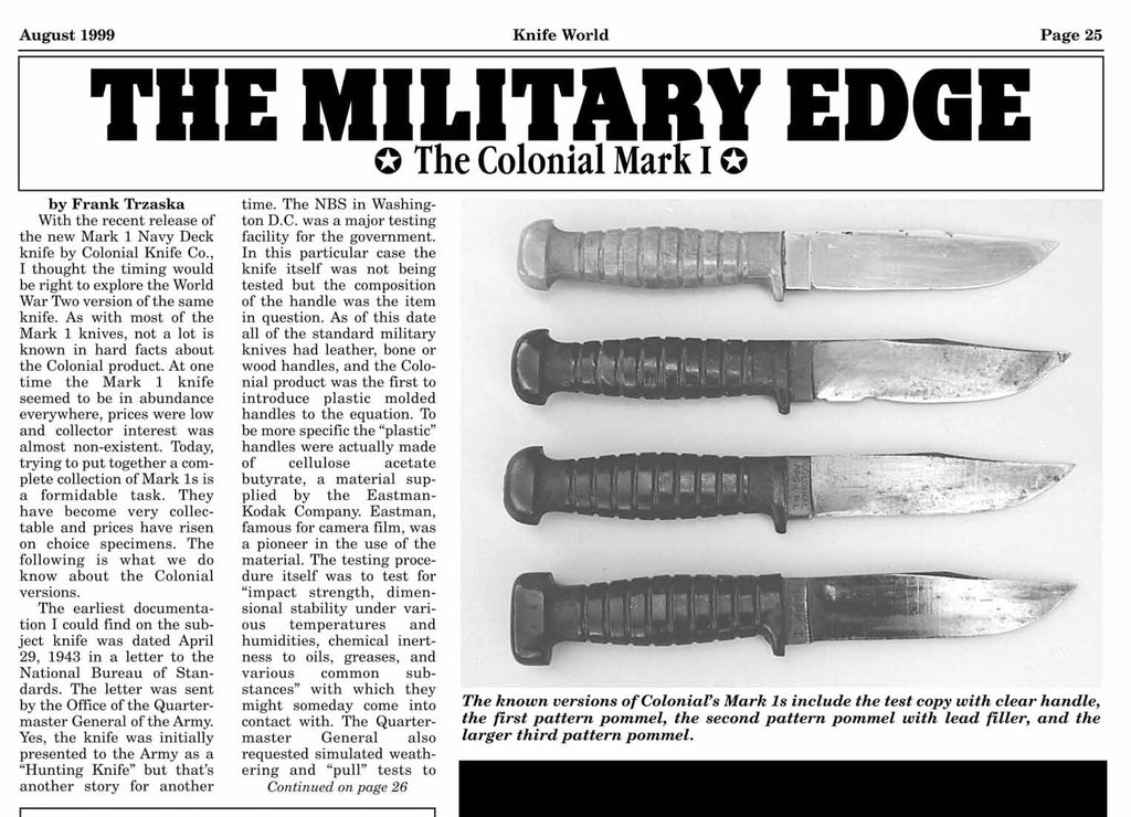 Colonial Mk1 Colonial Knife Corp