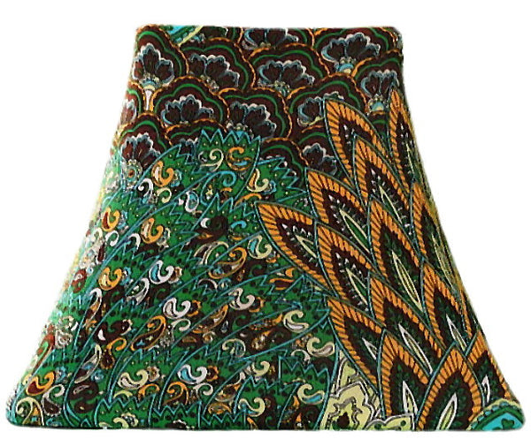 Autumn Peacock - SLIP COVERS for lampshades