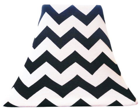 Black Chevron - SLIP COVERS for lampshades