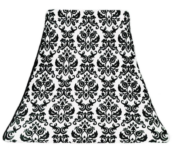 Black Damask - SLIP COVERS for lampshades