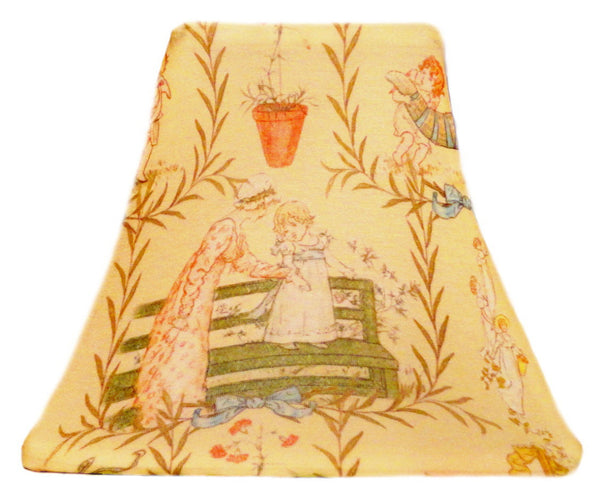 Butter Cream Toile - SLIP COVERS for lampshades