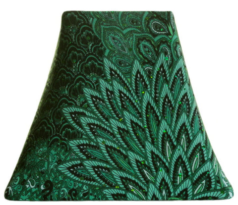 Winter Green Peacock - SLIP COVERS for lampshades