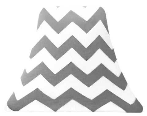 Gray Chevron - SLIP COVERS for lampshades