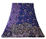 Purple Peacock - SLIP COVERS for lampshades